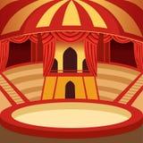 Projeto dos desenhos animados da arena do circo Fase clássica com amarelo ilustração royalty free