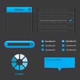 Projeto dos elementos da Web UI Imagem de Stock