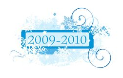Projeto dos flocos de neve Imagens de Stock