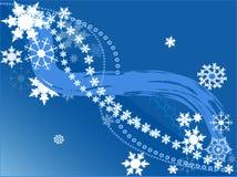 Projeto dos flocos de neve Fotografia de Stock Royalty Free