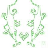 Projeto dos lagartos para o t-shirt Foto de Stock Royalty Free