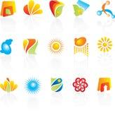 Projeto dos logotipos da companhia Imagens de Stock Royalty Free