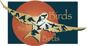 Projeto dos pássaros em voo Ilustração do Vetor