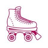 Projeto dos patins ilustração stock
