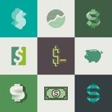 Projeto dos sinais de dólar. Ilustração do vetor Imagem de Stock