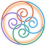 Projeto dos Twirls Imagem de Stock
