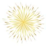 Projeto dourado da celebração do fogo de artifício ilustração royalty free