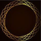 Projeto dourado simples bonito Borde decorativo do estilo do vintage Fotografia de Stock