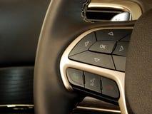 Projeto e controles Multifunction do volante Fotos de Stock Royalty Free