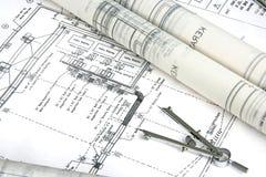 Projeto e desenho de engenharia Foto de Stock Royalty Free