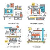 Projeto e desenvolvimento Fotos de Stock