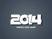 Projeto elegante do ano novo feliz 2014. Imagens de Stock Royalty Free