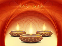 Projeto elegante do fundo para o festival do diwali com ilustração stock