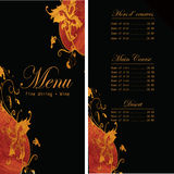 Projeto elegante do menu do restaurante Fotografia de Stock Royalty Free