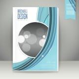Projeto elegante do molde de capa do livro ilustração stock
