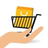 Projeto em linha de compra, ilustração do vetor Foto de Stock