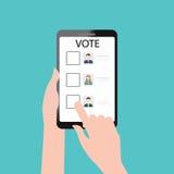 Projeto em linha do voto Ilustração Stock