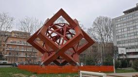 Projeto em Parco Viale Tiziano Indicadores velhos bonitos em Roma (Italy) video estoque