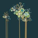 Projeto encantador da árvore Fotografia de Stock