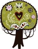 Projeto encantador da árvore imagem de stock