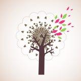 Projeto encantador da árvore fotos de stock
