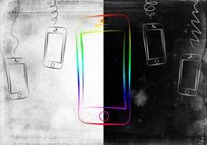 Projeto esperto moderno da arte do isolamento do telefone Foto de Stock