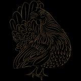 Projeto estilizado galinha Foto de Stock Royalty Free