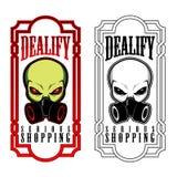 Projeto estrangeiro do ícone do símbolo da cara do UFO Foto de Stock Royalty Free