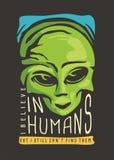 Projeto estrangeiro do t-shirt ilustração royalty free