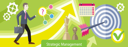 Projeto estratégico da gestão liso ilustração do vetor