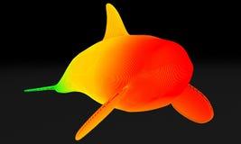 Projeto estrutural decorativo da baleia ilustração 3D ilustração do vetor