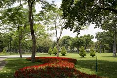 Projeto exterior das paisagens na ilha Guangzhou de Ersha fotografia de stock