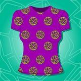 Projeto fêmea do t-shirt, teste padrão de matéria têxtil Ilustração Royalty Free