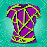 Projeto fêmea do t-shirt, teste padrão de matéria têxtil, ilustração Ilustração Stock