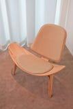 Projeto famoso Hans Wegner, cadeira de madeira, Pequim, China Imagens de Stock Royalty Free