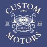 Projeto feito sob encomenda da cópia do t-shirt do vetor do motor Fotografia de Stock