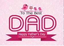 Projeto feliz da ideia do cartão do dia de pai Fotos de Stock Royalty Free
