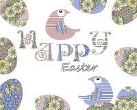 Projeto feliz da tampa do cartão do ovo da páscoa Imagens de Stock