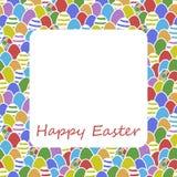 Projeto feliz da tampa do cartão do ovo da páscoa Imagem de Stock Royalty Free