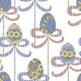 Projeto feliz da textura do cartão do ovo da páscoa Foto de Stock