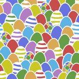Projeto feliz da textura do cartão do ovo da páscoa Foto de Stock Royalty Free