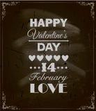 Projeto feliz do dia de Valentim. Quadro-negro Imagens de Stock Royalty Free