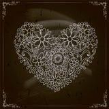 Projeto feliz do dia de Valentim. Quadro-negro Imagens de Stock