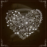 Projeto feliz do dia de Valentim. Quadro-negro Imagem de Stock Royalty Free