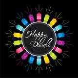 Projeto feliz do festival do diwali ilustração royalty free