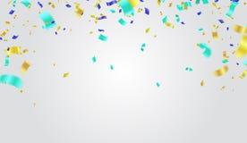 Projeto festivo Beira dos confetes brilhantes coloridos isolados em t Fotografia de Stock Royalty Free