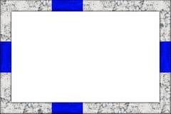Projeto finlandês da bandeira de finland da moldura para retrato de madeira vazia Imagem de Stock Royalty Free