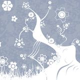 Projeto floral Ilustração Royalty Free