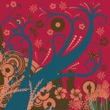 Projeto floral abstrato ilustração stock