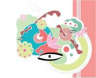 Projeto floral abstrato Imagens de Stock